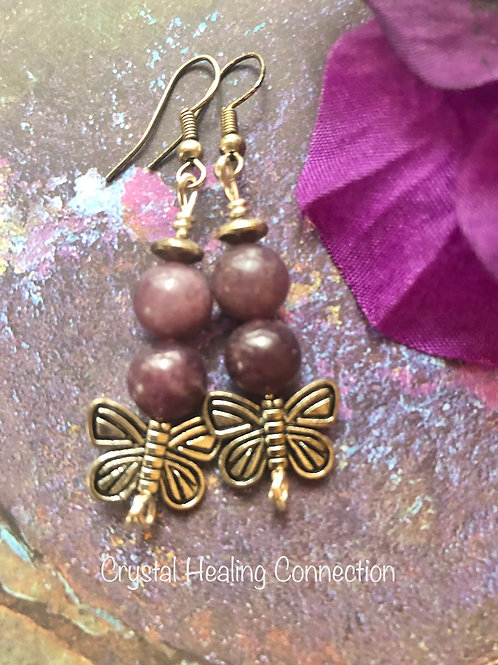 Lepidolite Earrings