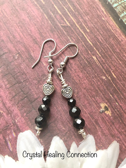 Spinel Heart Earrings