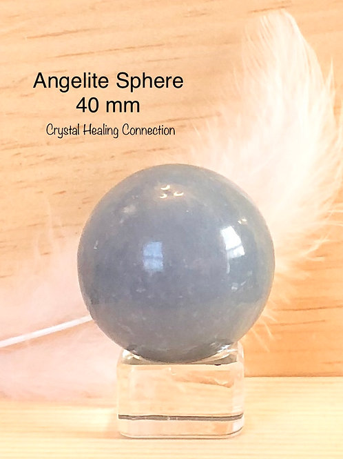 Angelite Sphere 40 mm