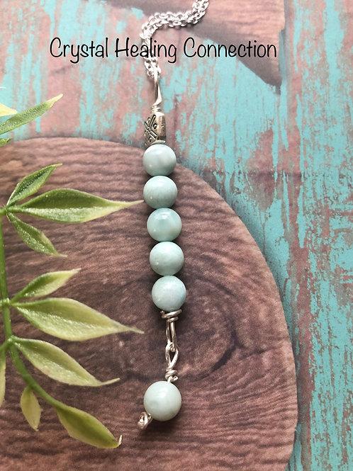 Larimar 6 Bead Necklace