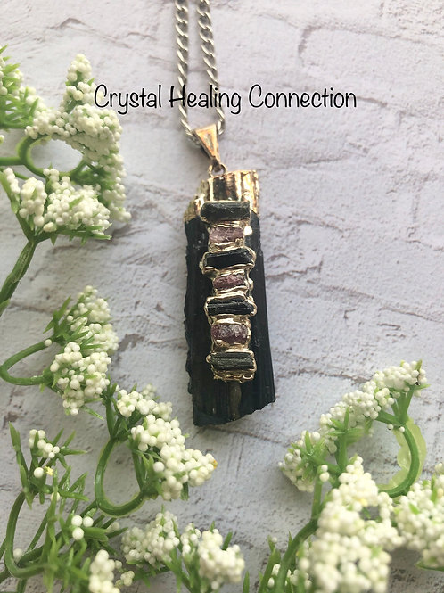 Black Tourmaline Chakra Necklace