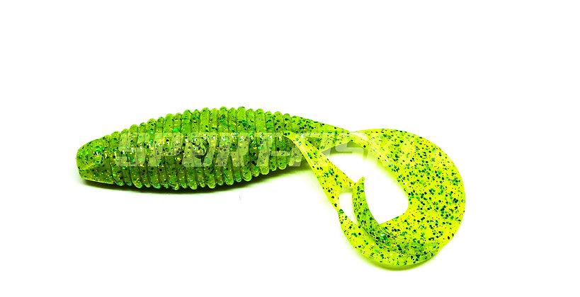 "KEITECH Flapper Grub 4"" - Lime Chartreuse"