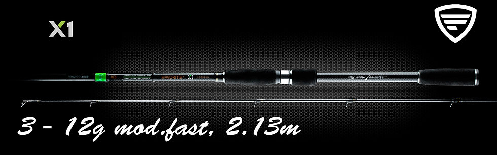 """Favorite X1""  3 - 12g. 2.13m. Mod.Fast, Light"