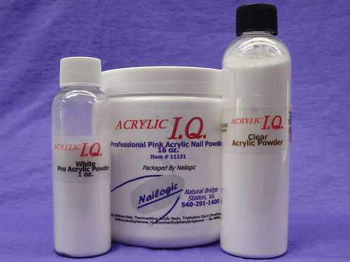 AcrylicIQ Professional Acrylic Powders, 30g, 90g, or 1 lb.