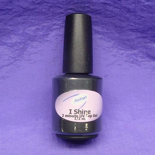 I-Shine Top Gel, 1/2 oz. brush bottle.