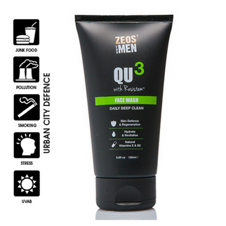 ZEOS® QU3 Face Wash for Men