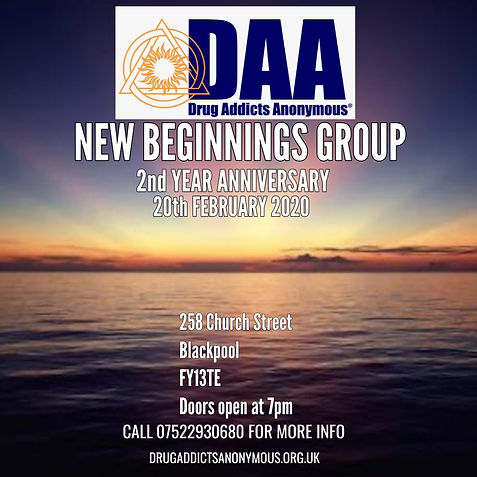 BLACKPOOL NEW BEGINNINGS GROUP: 2nd Anniversary