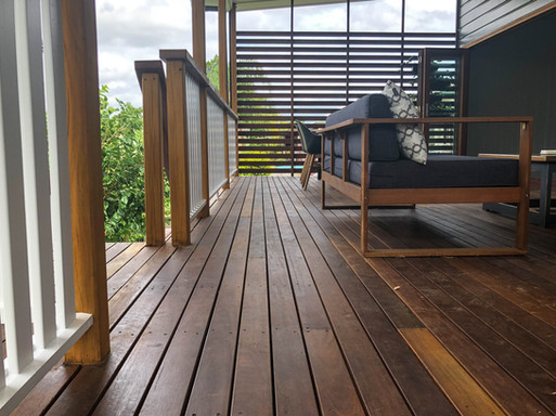timber decking and outdoor furniture