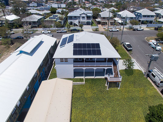 two storey build with solar panels