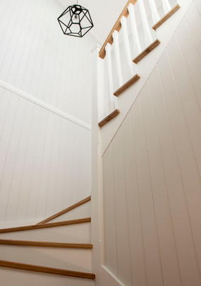white stairs leading up