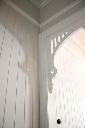 house doorway details white timber
