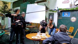 Werner Herzog holds bounce card
