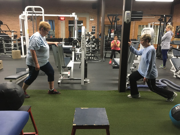Mary and Sue's workout 1/21