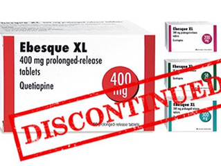 Ebesque XL (modified-release quetiapine) has been discontinued in the UK... How can CCG's confid
