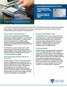 Benefit Access Visa Card Substantiation.