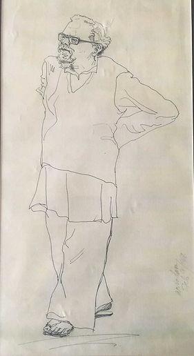 Dayaji A Sketch by Arindam Chakrabarti.j