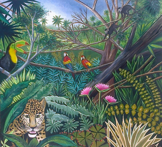 Peinture à l'huile sur toile contemporaine taille 1m x1m