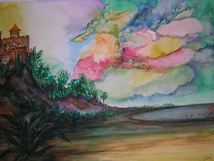 aquarelle contemporaine abstraite