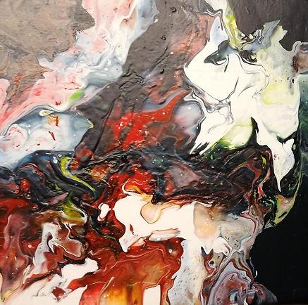 peinture abstraite acrylique