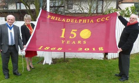 2018 - 150 years celebration - Chairman Malcolm Pratt unveils the new flag