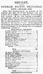1888 - 1st XI Durham County cup winners