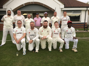 2019 - The 1st XI enjoying winning promotion to the NEPL Division 1