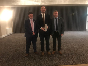2019 - Shaun Smith receiving his DCL Player of the Season award