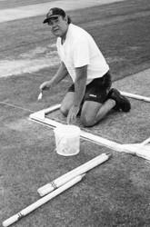 2001 - Groundsman Colin Bertram