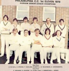 1978 - 1st XI - Durham Senior League winners
