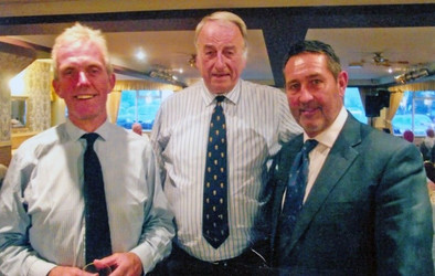 2012 - Geoff Cook, Norman Graham and Graham Gooch at the fund raising dinner