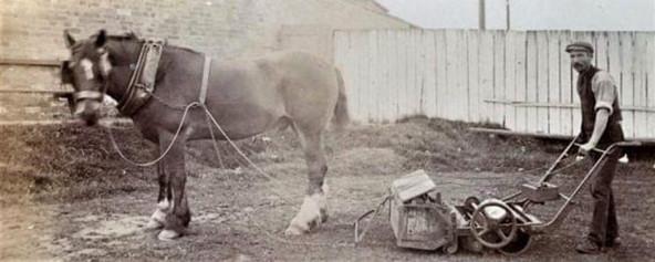 1907 - Groundsperson at work