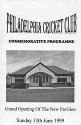 1999 - Arsonists were blamed for a blaze in 1995 which wrecked the cricket pavilion built in 1924. The pavilion had to be demolished. Four years later, in October 1998, the club decided to go ahead with a new pavilion and the official opening ceremony took place on Sunday, 13th June 1999.