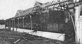 Arsonists were blamed for a blaze in 1995 which wrecked the cricket pavilion built in 1924. The pavilion had to be demolished. Four years later, in October 1998, the club decided to go ahead with a new pavilion and the official opening ceremony took place on Sunday, 13th June 1999.