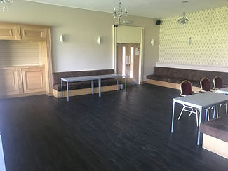 This room is self-contained with its own access to the bar serving area. It has recently been renovated to a very high standard and can be configured to suit your requirements. The room has patio doors leading to the cricket ground and has several large windows providing a panoramic view of the cricket ground. The room has access to a kitchen if required and also contains disabled toilet facilities and can be configured to provide a dance floor.  The room will accommodate any size of party up to 100 people.