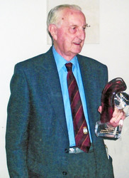 2009 - Arthur Potter celebrates his 50 years as Secretary and Treasurer of the Club