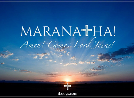 Tear open the heavens, Maranatha!