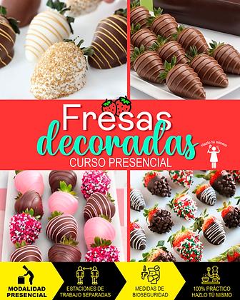 PRESENCIAL - FRESAS DECORADAS