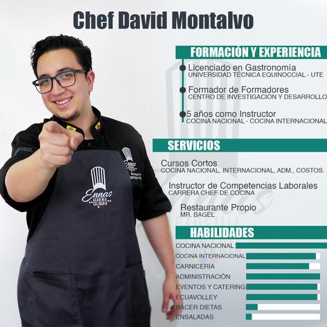 Chef David Montalvo