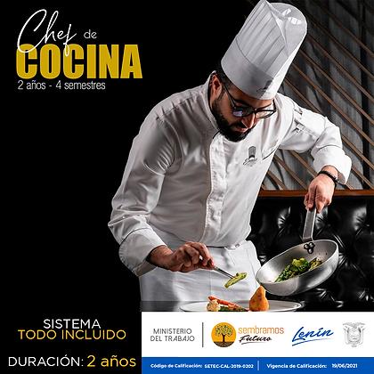 CARRERA CHEF DE COCINA - MATRICULA