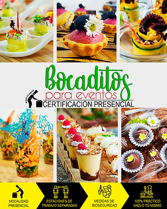 BOCADITOS PARA EVENTOS - PRESENCIAL
