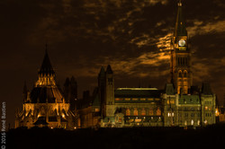 Supermoon on Parliament Hill