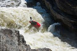 Kayaker, Hogs Back Fall