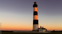 Bodie Lighthouse at sunset-