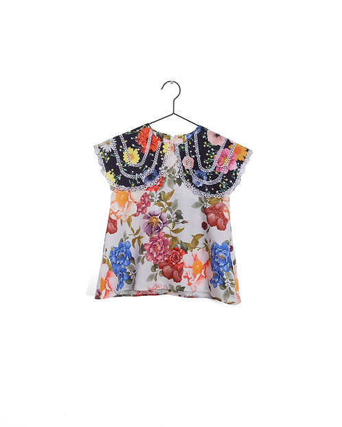 Girl Blouse Clarisse Flowers