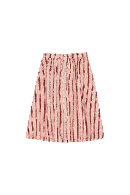 Retro Stripes Midi Skirt
