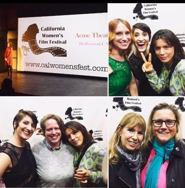Director Mollie Fitzgerald, Producer Dylan Zink, Actress Paulette Mihale, Actress Lauren Byrnes, Comedian Sarah Graham, and Director Julia Verdin
