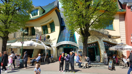 בית עקום בעיר סופוט פולין