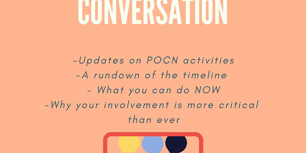 JOIN US - CRITICAL COMMUNITY CONVERSATION w/ POCN