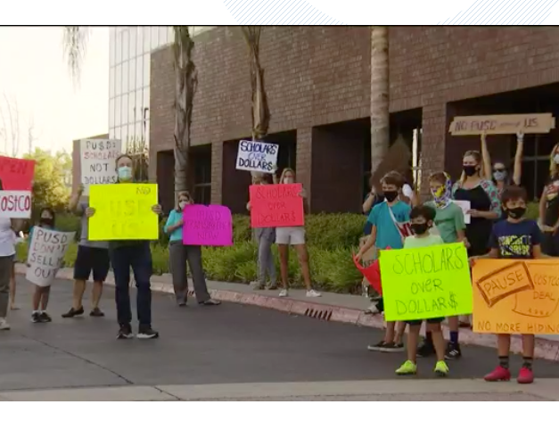 NewsChant- Parents, Community members Protest Plans to build a Costco on PUSD land zoned for a middle school