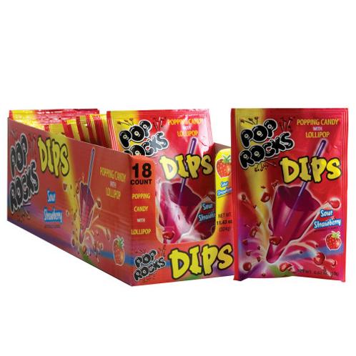 Pop Rocks Dips Sour Strawberry